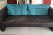 Couch schwarz 3-Sitzer