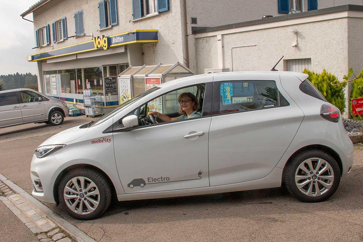 Lokal Auto fahren mit CO2-Reduktion